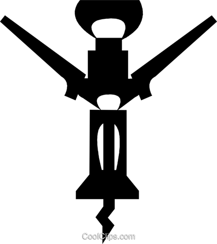 corkscrew Royalty Free Vector Clip Art illustration vc029693