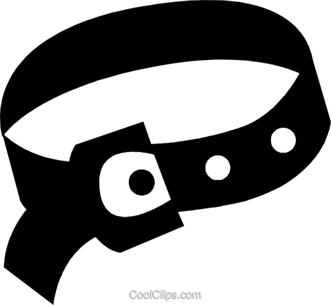 clothes belt Royalty Free Vector Clip Art illustration vc029698