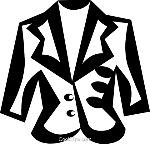 winter jacket Royalty Free Vector Clip Art illustration vc029706