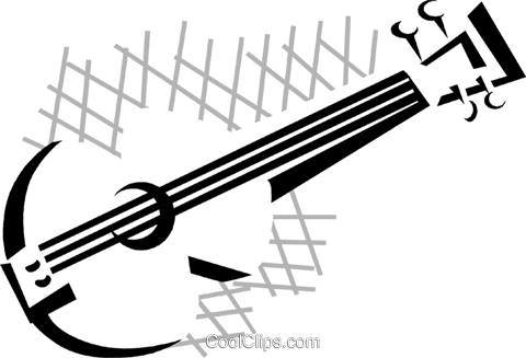 guitar Royalty Free Vector Clip Art illustration vc029797