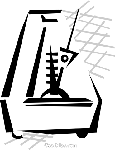 metronome Royalty Free Vector Clip Art illustration vc029804