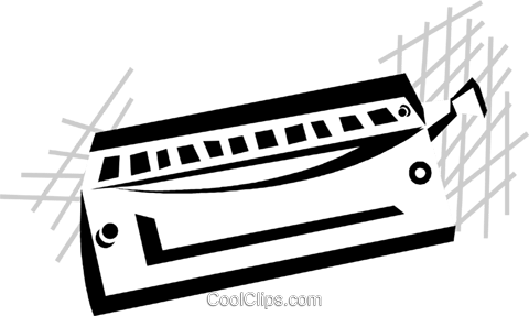 harmonica Royalty Free Vector Clip Art illustration vc029810