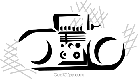 portable stereo Royalty Free Vector Clip Art illustration vc029823