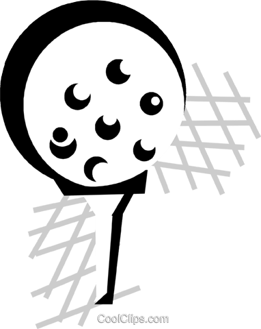 golf ball on a tee Royalty Free Vector Clip Art illustration vc029851