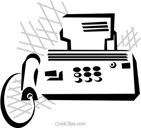 fax machine Royalty Free Vector Clip Art illustration vc029858