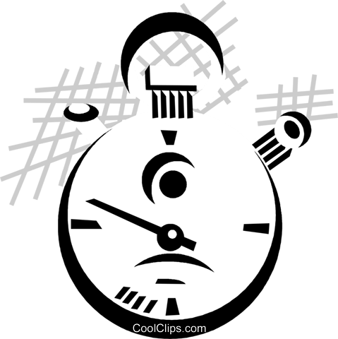 stop watch Royalty Free Vector Clip Art illustration vc029862