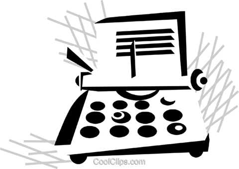 typewriter Royalty Free Vector Clip Art illustration vc029863
