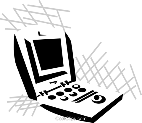 laptop computers Royalty Free Vector Clip Art illustration vc029866