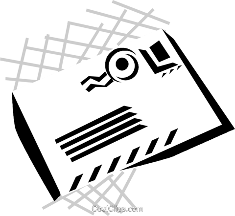 letter Royalty Free Vector Clip Art illustration vc029867