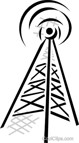 communication tower Royalty Free Vector Clip Art illustration vc029874