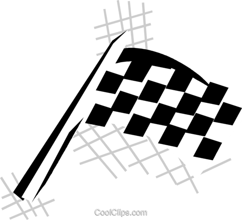 checkered flag Royalty Free Vector Clip Art illustration vc029881