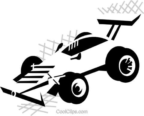 race car Royalty Free Vector Clip Art illustration vc029890