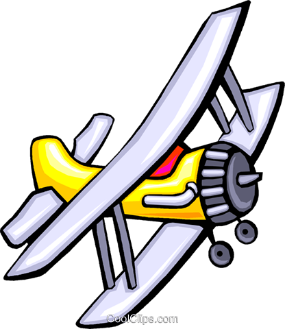 propeller plane Royalty Free Vector Clip Art illustration vc029896