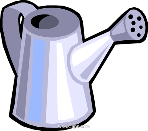 watering can Royalty Free Vector Clip Art illustration vc029901