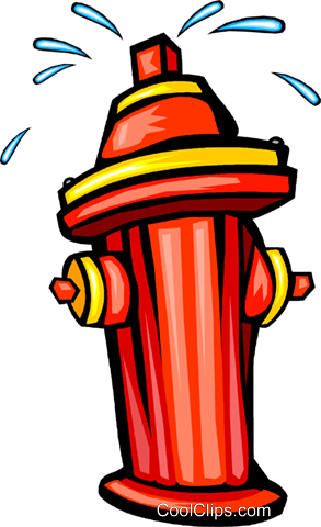 fire hydrants Royalty Free Vector Clip Art illustration vc029903