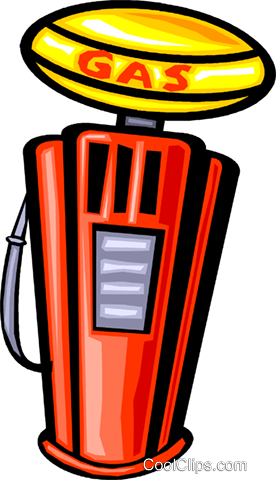 gas pump Royalty Free Vector Clip Art illustration vc029907