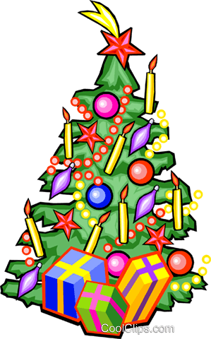 Christmas tree Royalty Free Vector Clip Art illustration vc029927