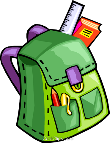 knapsack Royalty Free Vector Clip Art illustration vc029932