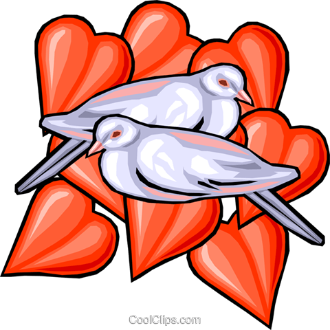 love birds Royalty Free Vector Clip Art illustration vc029940