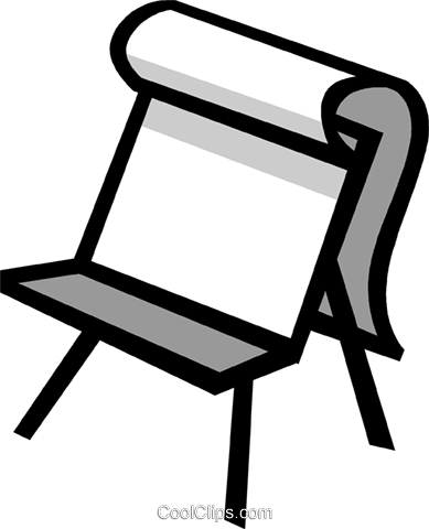 easel Royalty Free Vector Clip Art illustration vc029945