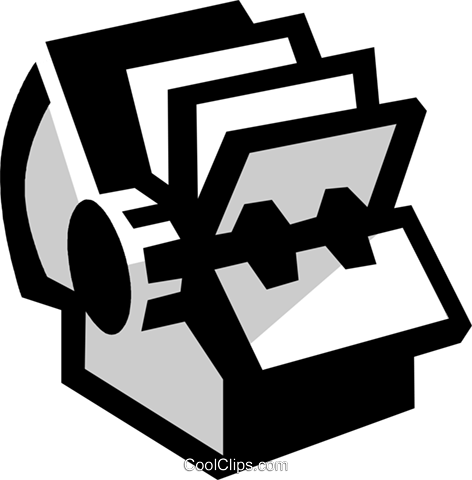 rolodex Royalty Free Vector Clip Art illustration vc029949