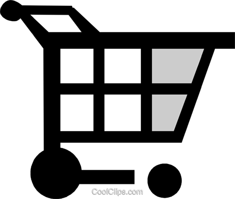 shopping cart Royalty Free Vector Clip Art illustration vc029969