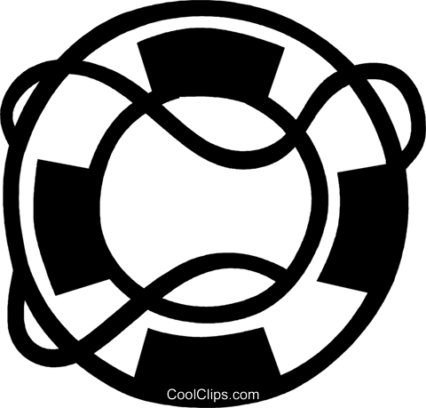 life preserver Royalty Free Vector Clip Art illustration vc029987