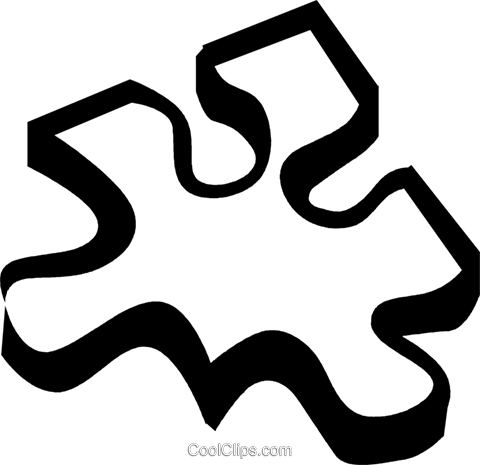 puzzle piece Royalty Free Vector Clip Art illustration vc029997