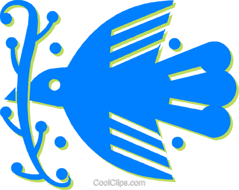 dove of peace Royalty Free Vector Clip Art illustration vc030505