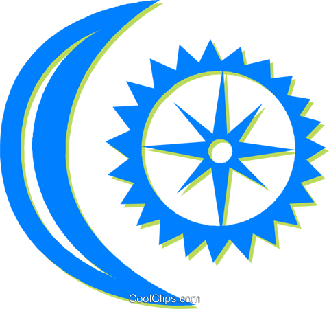 moon and sun Royalty Free Vector Clip Art illustration vc030547