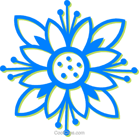 decorative floral design Royalty Free Vector Clip Art illustration vc030560