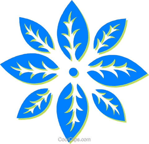 decorative floral design Royalty Free Vector Clip Art illustration vc030563