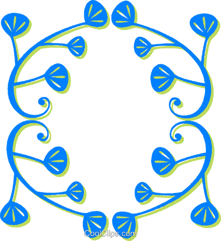 decorative floral design Royalty Free Vector Clip Art illustration vc030576