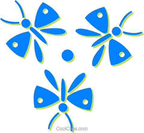 butterflies Royalty Free Vector Clip Art illustration vc030579