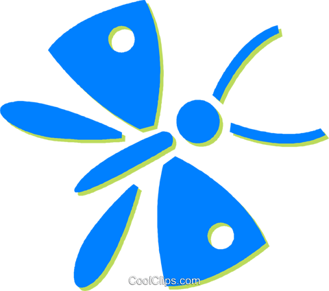 butterflies Royalty Free Vector Clip Art illustration vc030592
