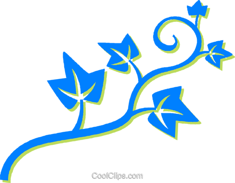 leafy vine Royalty Free Vector Clip Art illustration vc030602