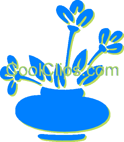 potted plant Royalty Free Vector Clip Art illustration vc030607