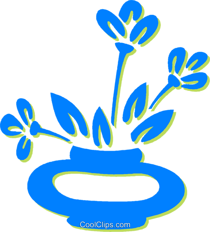 potted plant Royalty Free Vector Clip Art illustration vc030608