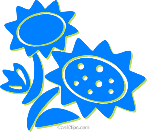 sunflowers Royalty Free Vector Clip Art illustration vc030717