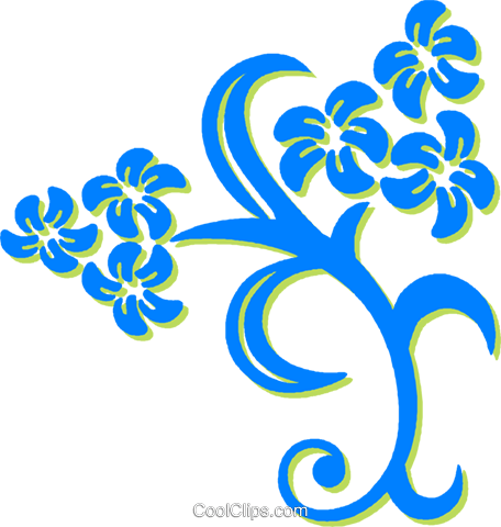 decorative floral design Royalty Free Vector Clip Art illustration vc030725