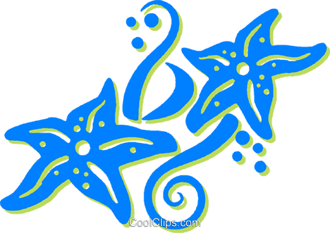 star fish Royalty Free Vector Clip Art illustration vc030742
