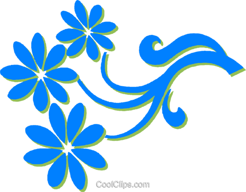 decorative floral design Royalty Free Vector Clip Art illustration vc030767