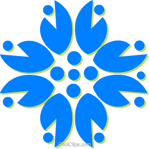 decorative floral design Royalty Free Vector Clip Art illustration vc030792