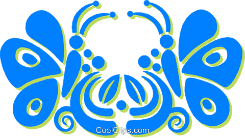 butterflies Royalty Free Vector Clip Art illustration vc030803