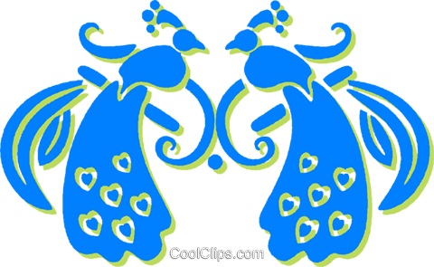 peacock Royalty Free Vector Clip Art illustration vc030804