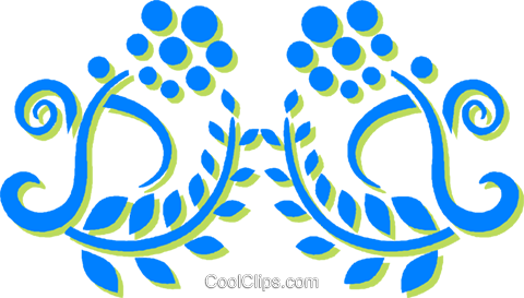 decorative floral design Royalty Free Vector Clip Art illustration vc030808