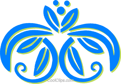 decorative floral design Royalty Free Vector Clip Art illustration vc030810