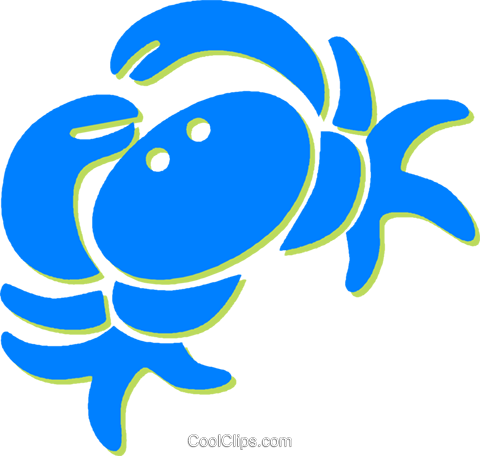 crab Royalty Free Vector Clip Art illustration vc030811