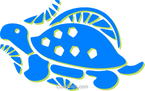 turtle Royalty Free Vector Clip Art illustration vc030831