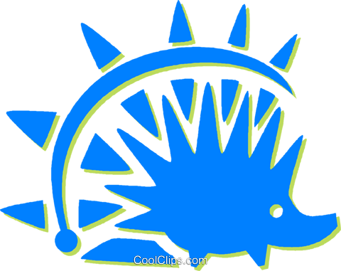 porcupine Royalty Free Vector Clip Art illustration vc030836